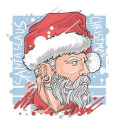 abstract painting santa claus christmas artwork vector image