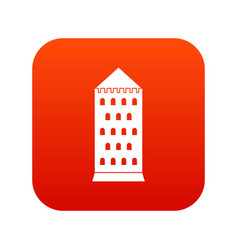 ancient building icon digital red vector image
