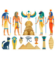 Ancient egypt egyptian culture symbols and sign vector