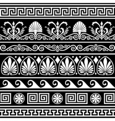 antique Greek border vector image