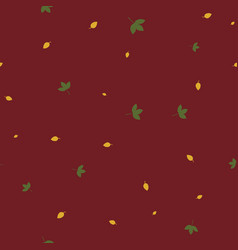 autumn leaves seamless pattern color vector image
