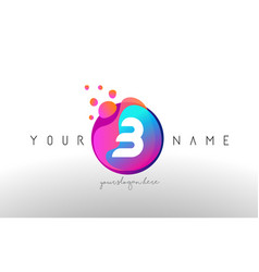 b dots letter logo with bubbles a letter design vector image