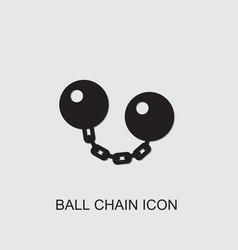Ball chain icon vector
