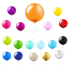 balloons big set vector image