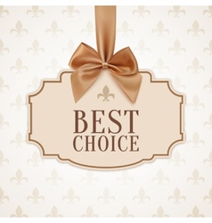 Best choice banner vector image