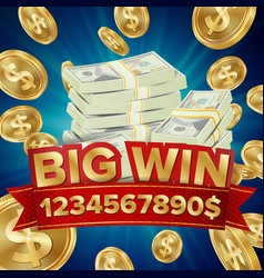 Big win big winner poster you win vector