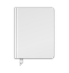 Blank White Book Or Notebook Template vector image