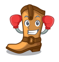 boxing cowboy boots in the shape cartoon vector image