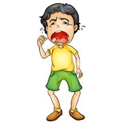 Boy crying vector
