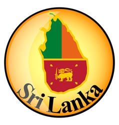 Button Sri Lanka vector