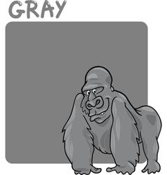 Color Gray and Gorilla Cartoon vector image vector image