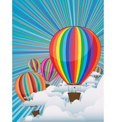 Colorful Hot Air Balloons3 vector
