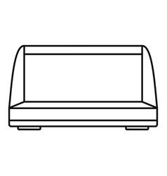 Commercial fridge icon outline style vector