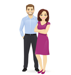 Couple young people vector