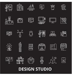 design studio editable line icons set on vector image
