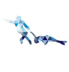 detailed silhouettes figure skaters vector image