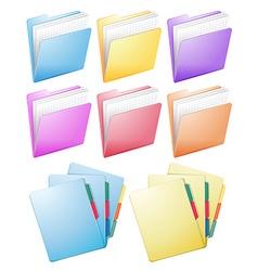 Different design of folders vector
