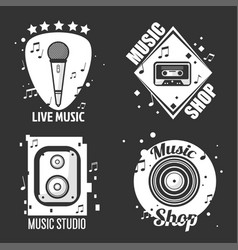 Different music emblems vector