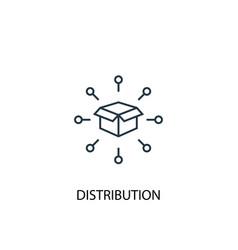 Distribution concept line icon simple element vector
