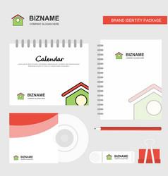dog house logo calendar template cd cover diary vector image