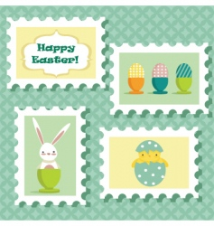 Easter stamp vector