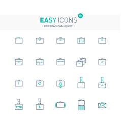 Easy icons 05e briefcases vector