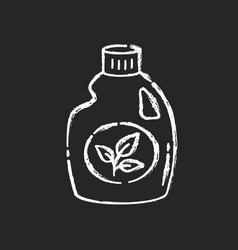 Eco cleaning product chalk white icon on black vector