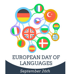 european day of languages vector image