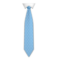 fashion blue tie icon realistic style vector image