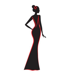 fashion model silhouette of beautiful woman vector image