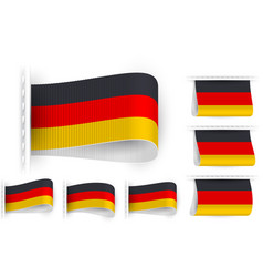 Flag tag clothes label sticker sewn set germany vector