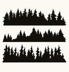 forest landscapes vintage concept vector image