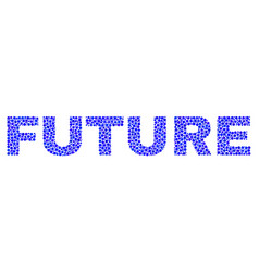 Future text in dot style vector