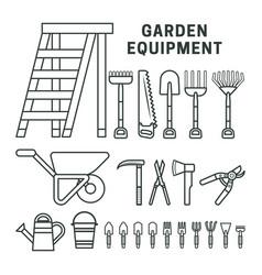 garden equpment icons vector image