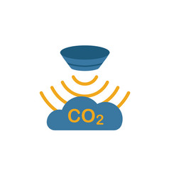 Gas sensor icon simple element from sensors icons vector