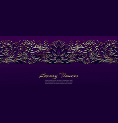 gold floral luxury ornament banner vector image