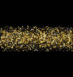 Gold sparkles on black background gold glitter vector