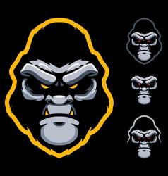 gorilla face mascot vector image