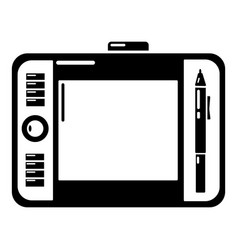 Graphic tablet icon simple black style vector