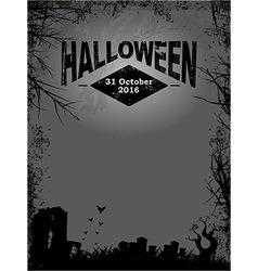 Halloween dark grunge poster vector
