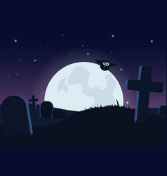 Halloween spooky flat background vector