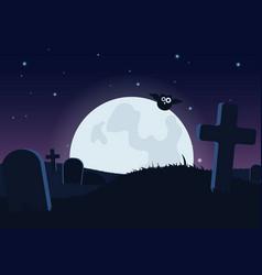 halloween spooky flat background vector image