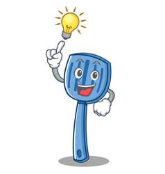 Have an idea spatula character cartoon style vector
