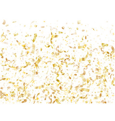 holiday realistic gold confetti flying background vector image