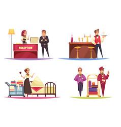 Hotel lobdesign concept vector