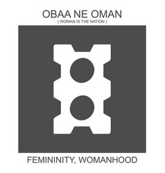 Icon with african adinkra symbol obaa ne oman vector
