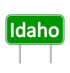 Idaho green road sign vector