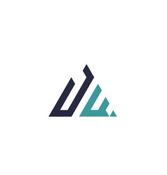 Initial letter triangle logo vector
