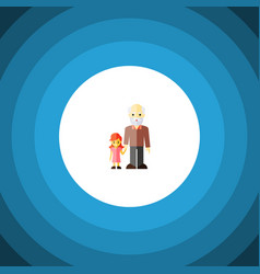 Isolated grandchild flat icon grandpa vector