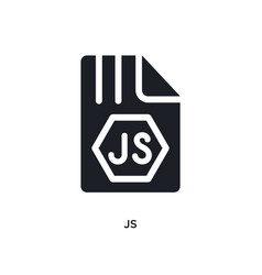 Js isolated icon simple element from programming vector